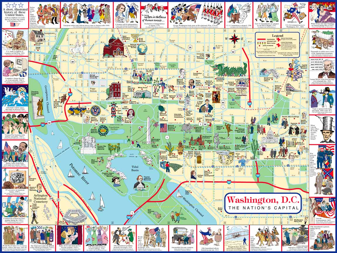 This is a picture of Juicy Printable Maps of Washington Dc